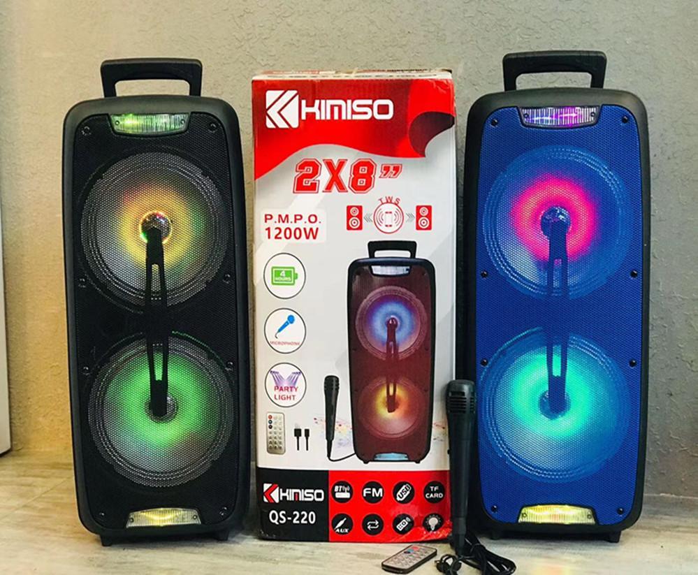 源頭工廠KIMISO雙8寸戶外音響拉桿手提便攜拉桿廣場舞藍牙音箱K歌