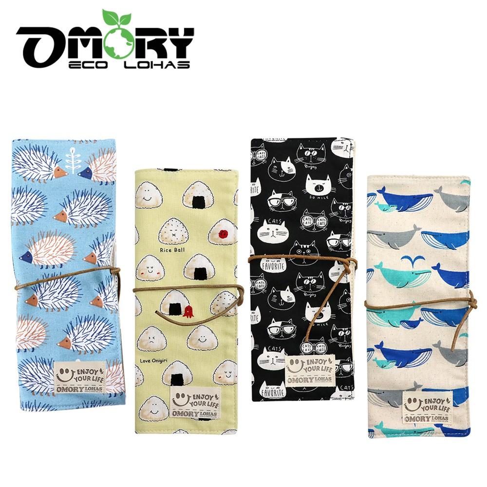 【OMORY】日式麻布手作環保餐具袋(無附餐具)-多款任選