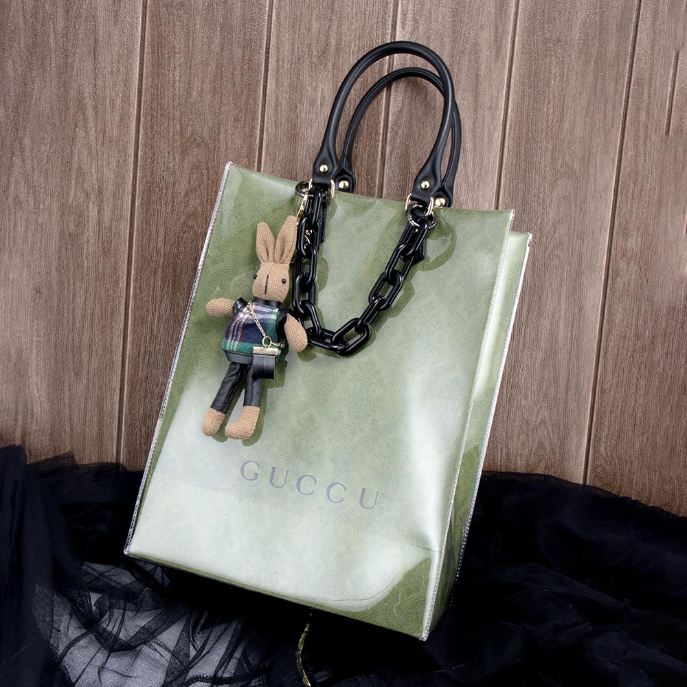 紙袋包 紙袋改造包 名牌紙袋 紙袋改造材料包 小紅書推薦 大牌紙袋改造手提包 配件 禮品袋改造斜挎包 TPU透明外殼