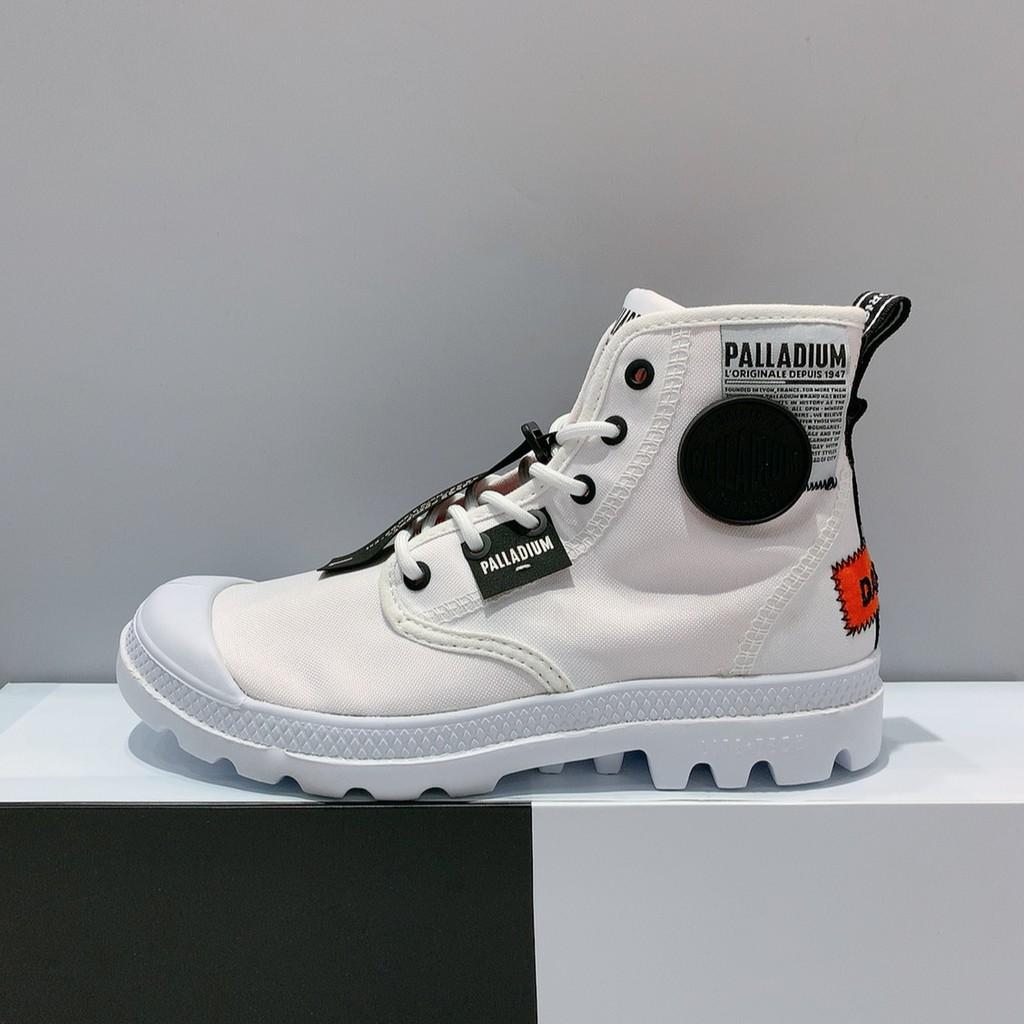 PALLADIUM 男女款 白色 舒適 帆布 高筒 休閒鞋 76639-100