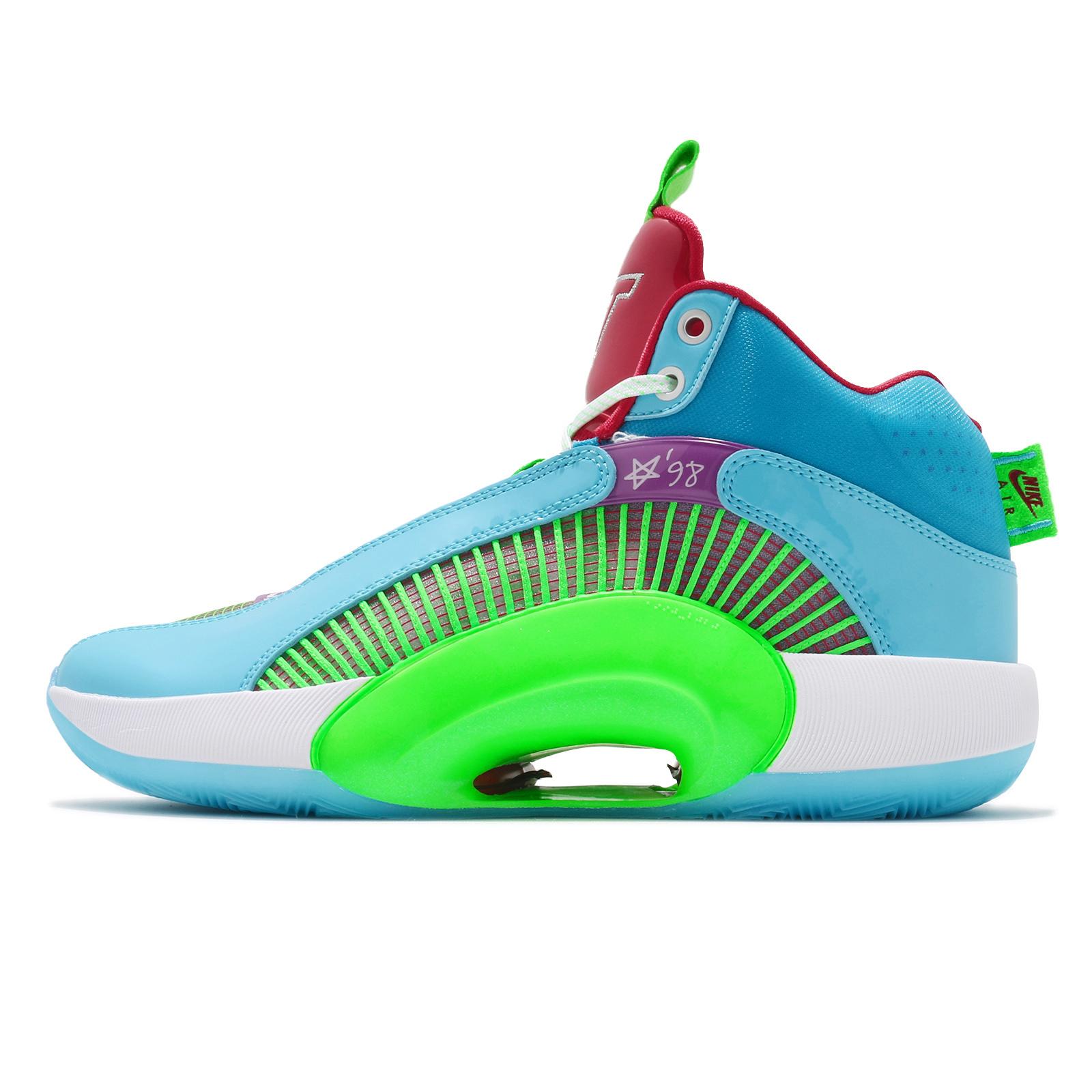 Nike Air Jordan XXXV WIP PF 35 藍 綠 紅 男鞋 籃球鞋【ACS】 DD3667-400