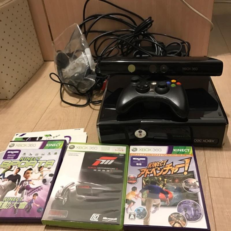 X BOX 360 + Kinect 含三片遊戲