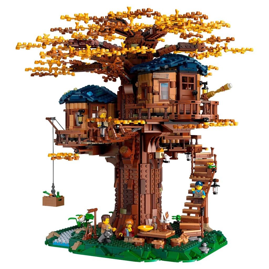 展示盒爆款【樂高LEGO 21318樹屋 益智拼裝積木玩具 燈飾 展示盒 收藏送禮 現貨直銷 Pvaa