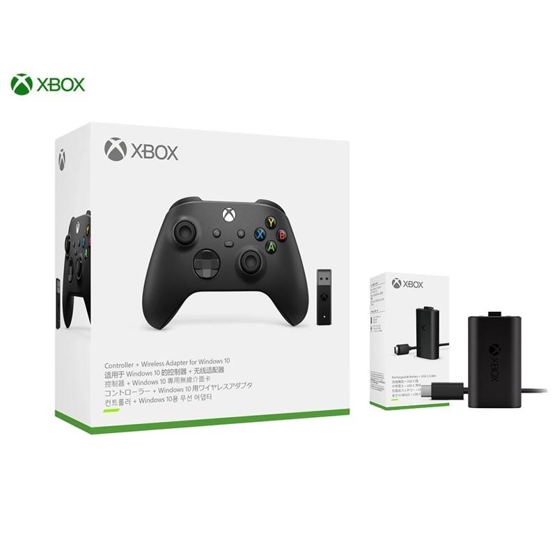 Xbox Series 磨砂黑+接收器 無線藍牙控制器 + Xbox S/X 同步充電套組《平輸》
