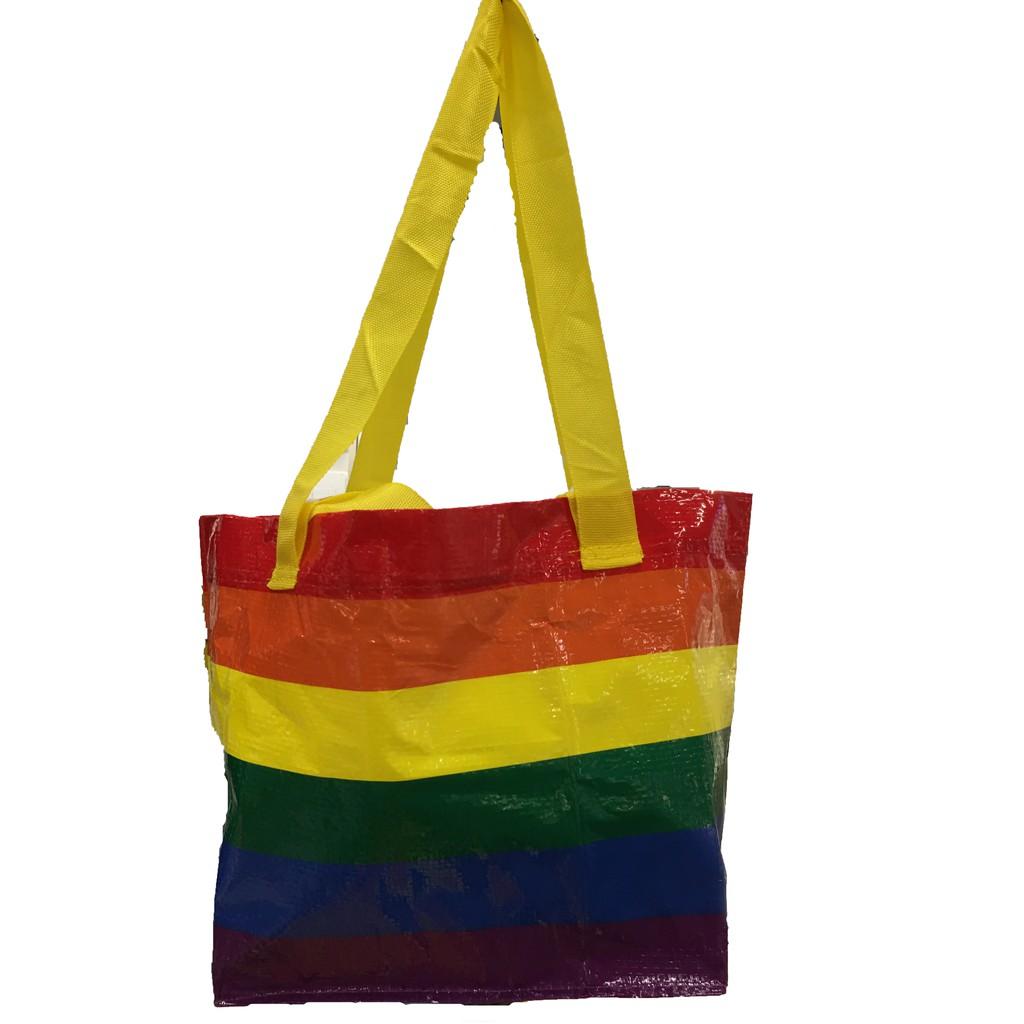 超級IKEA代購-27x27小資彩虹袋/環保彩虹袋/購物袋/彩虹袋