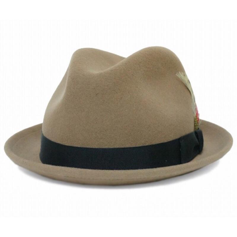 美國 NEW YORK HAT - STINGY FEDORA 三凹短簷紳士帽 - 杏仁色