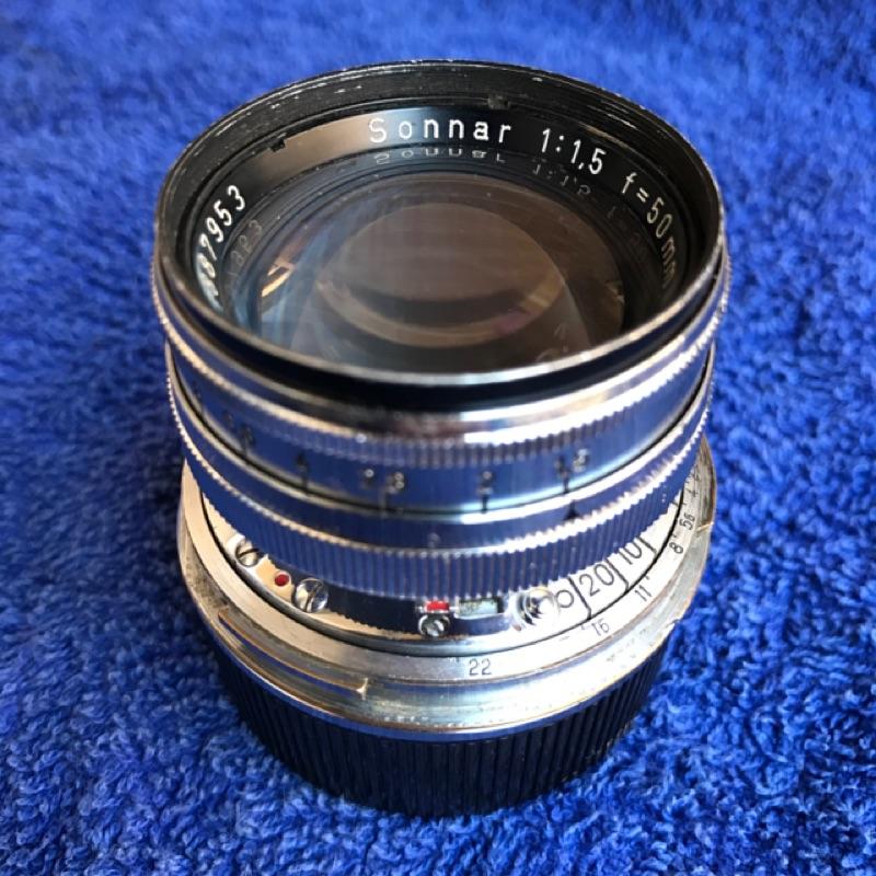 西德戰後蔡司 Contax RF Carl Zeiss Sonnar 50mm F1.5 Leica M口