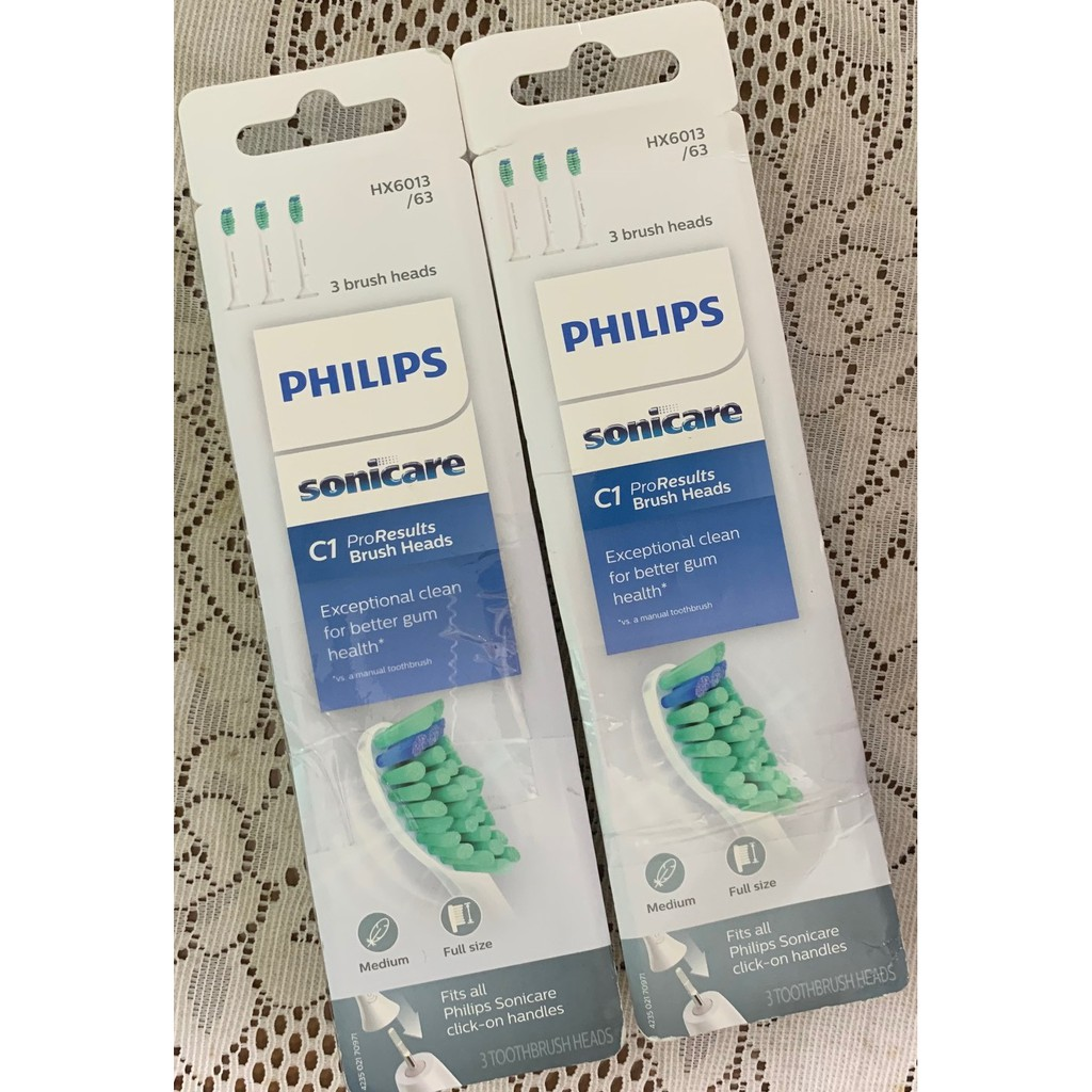 Philips (飛利浦) [ Sonicare HX6013 原廠電動牙刷刷頭 ] HX6013/63 三支組 全新品