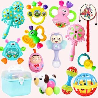 【新品现货】嬰兒玩具0到3-6-8個月新生益智寶寶撥浪鼓手搖鈴球幼兒男女孩1歲2
