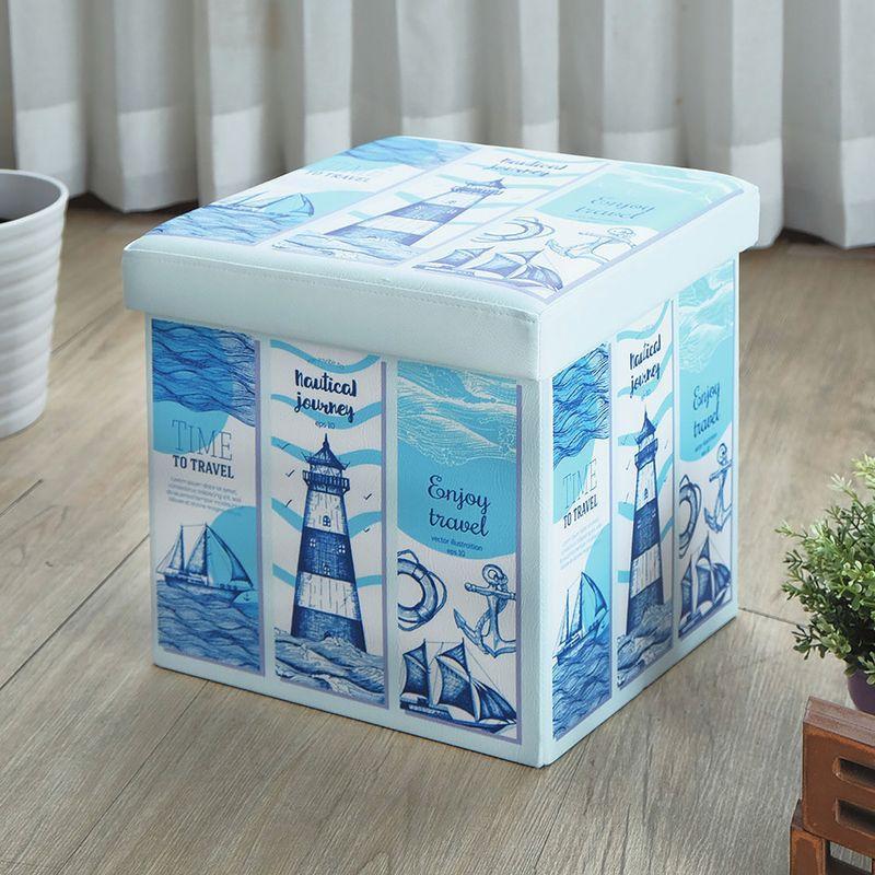 【YA356-16】巧思摺疊收納椅凳(海之旅)