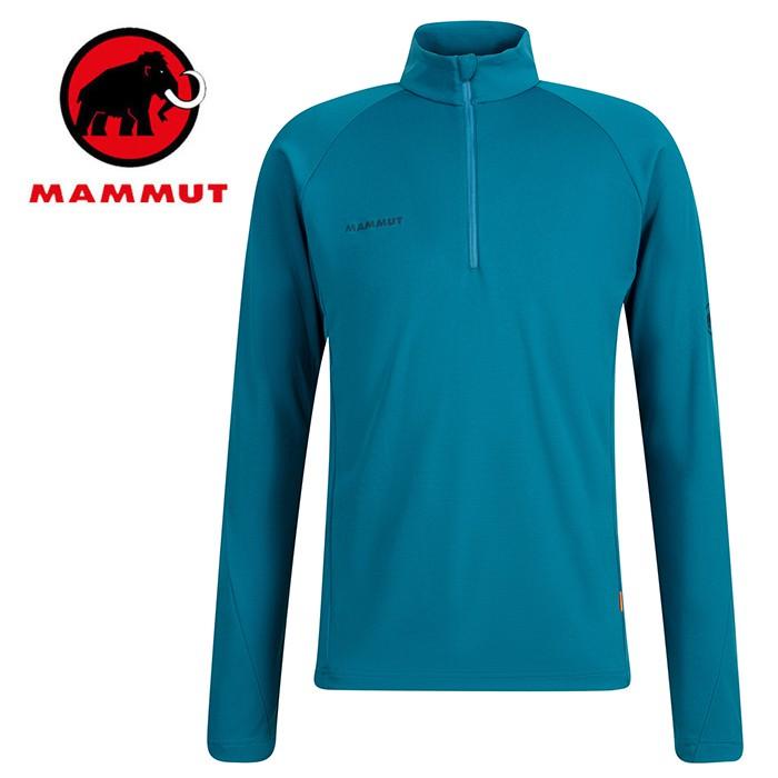【Mammut 長毛象 瑞士】Aegility 立領長袖排汗衣 運動上衣 男款 藍寶石 (00710-50226)