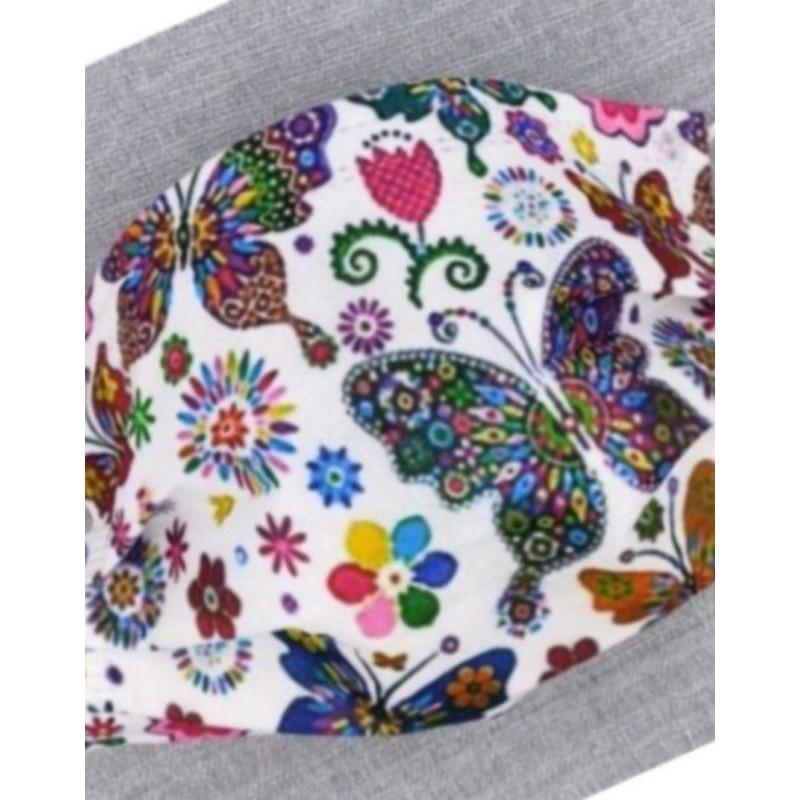 🔥現貨 熱賣🔥[蝴蝶 口罩] 🎀蝴蝶系列🎀 彩蝶 (鬱金香) 印花口罩 (非醫用) 成人款