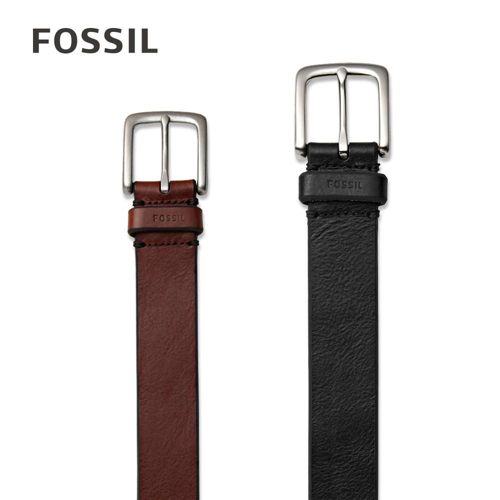 FOSSIL Joe 經典真皮皮帶 黑色 MB1252001, 棕色 MB1252200