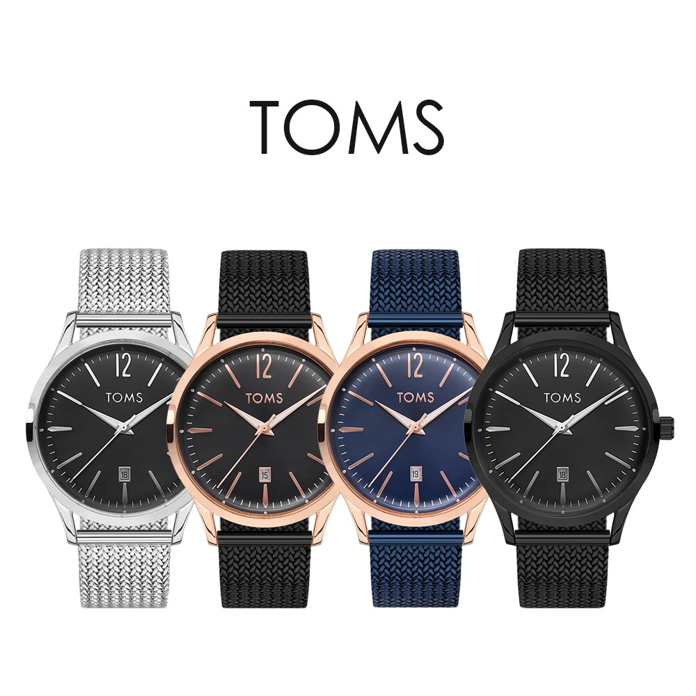 TOMS 極簡日期手錶(81706)