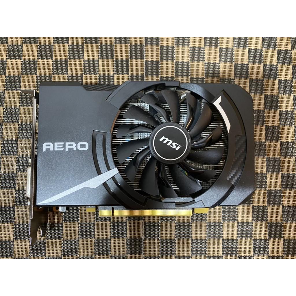 品項極新【原廠保固2021年9月】MSI 微星 GeForce GTX 1060 AERO 3G~需外接6PIN電源