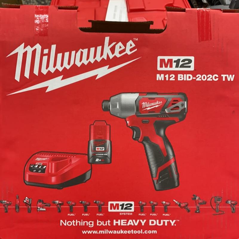 Milwaukee 米沃奇 12v全新原廠起子機 M12 BID-2020C TW