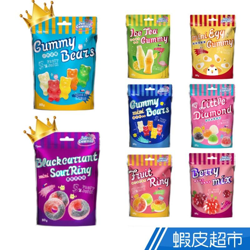 百靈QQ軟糖造型水果軟糖80g系列 水果熊/綜合圈/迷你雙層水果/黑醋慄圈/迷你覆盆莓/水果冰茶/迷你荷包蛋/迷你熊造型