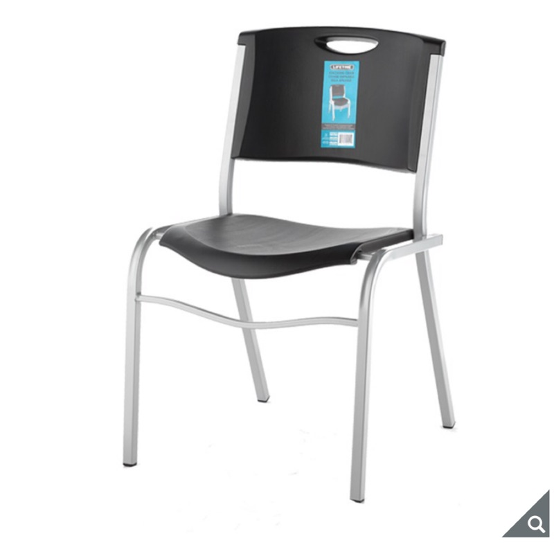 (宅配免運)會客椅(2入組)Lifetime 可堆疊收納會客椅 收納椅 椅子 餐椅 戶外休閒椅 辦公椅 好市多代購