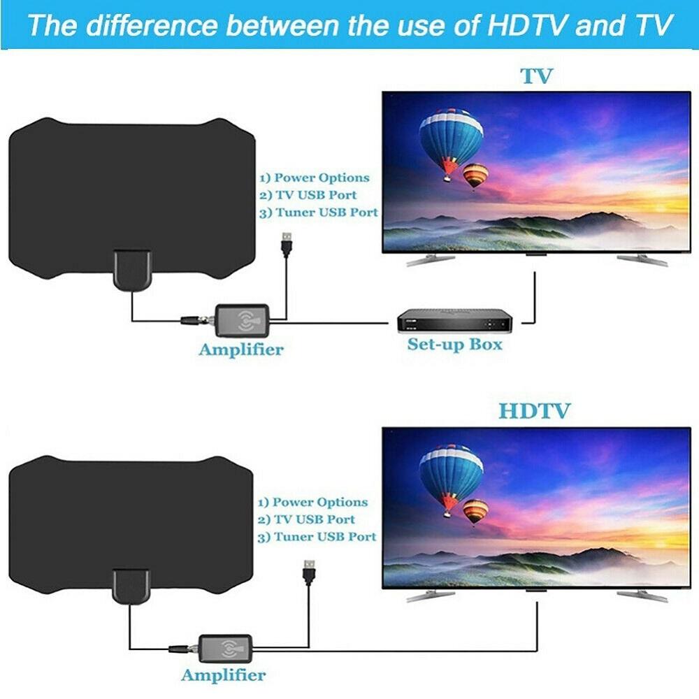 數字電視天線5000英里範圍信號增強放大器HDTV室內4K