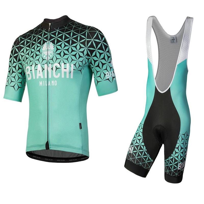 貨到付款 意大利Nalini BIANCHI比安奇MILAN舒適競技夏季短袖騎行服天青綠 腳踏車車衣 車褲
