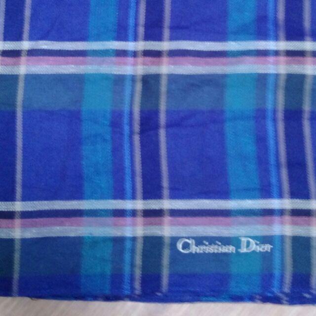 Christian Dior CD 格子款手帕 方巾