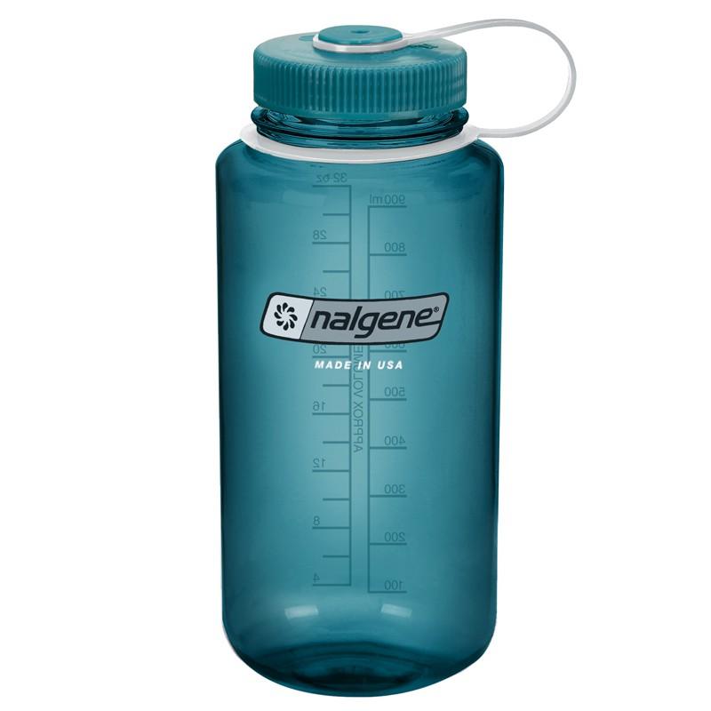 Nalgene 美製 1000cc 1L 防漏寬口寬嘴水壺 TRITAN 不含BPA 軍藍 2178-2056 綠野山房