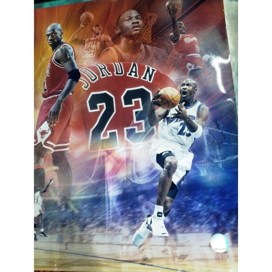 掛畫 Michael Jordan喬丹 NBA 體育明星 懷舊復古 Michael Jordan 海報正版