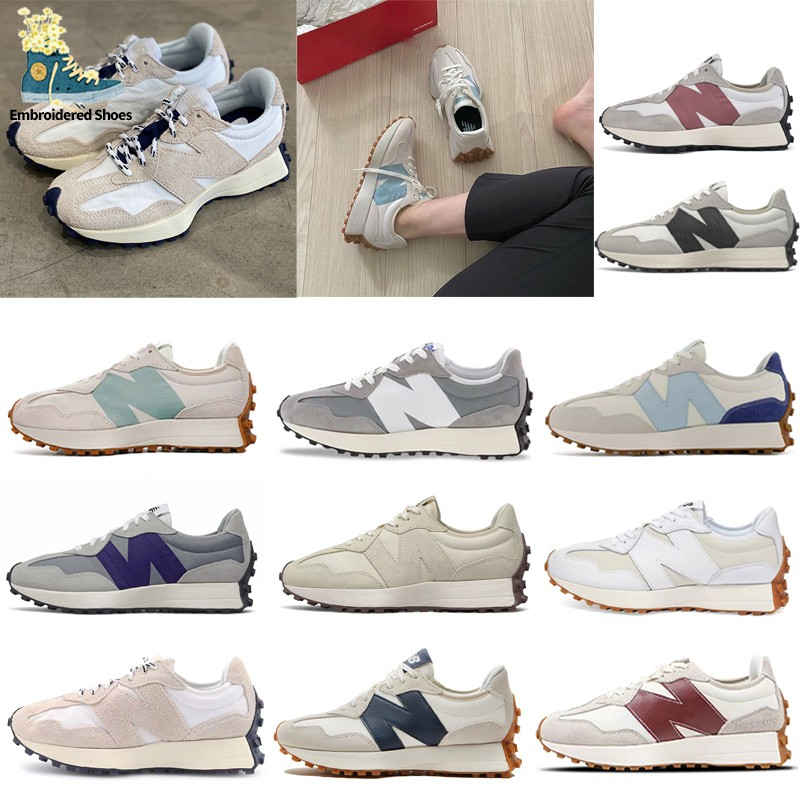 【韓國代購】nb327 New Balance 327 iu同款 酒紅 白藍 皮革 MS327RF1 海鹽白 女鞋男鞋