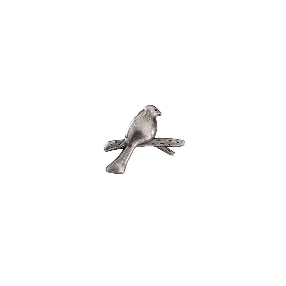 L'AME CHIC 金屬質感小鳥胸針【FDA053008】