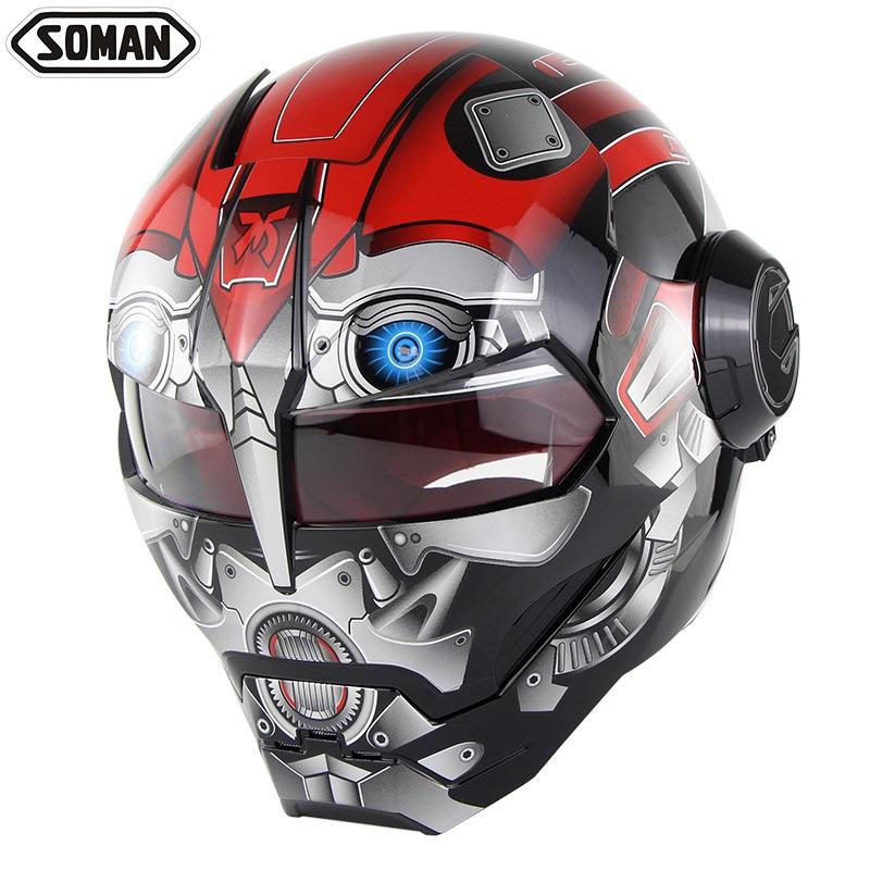 🔥Soman 鋼鐵人頭盔🔥 安全帽 機車 頭盔 摩托車 造型安全帽 全罩安全帽 造型設計cos特殊頭盔