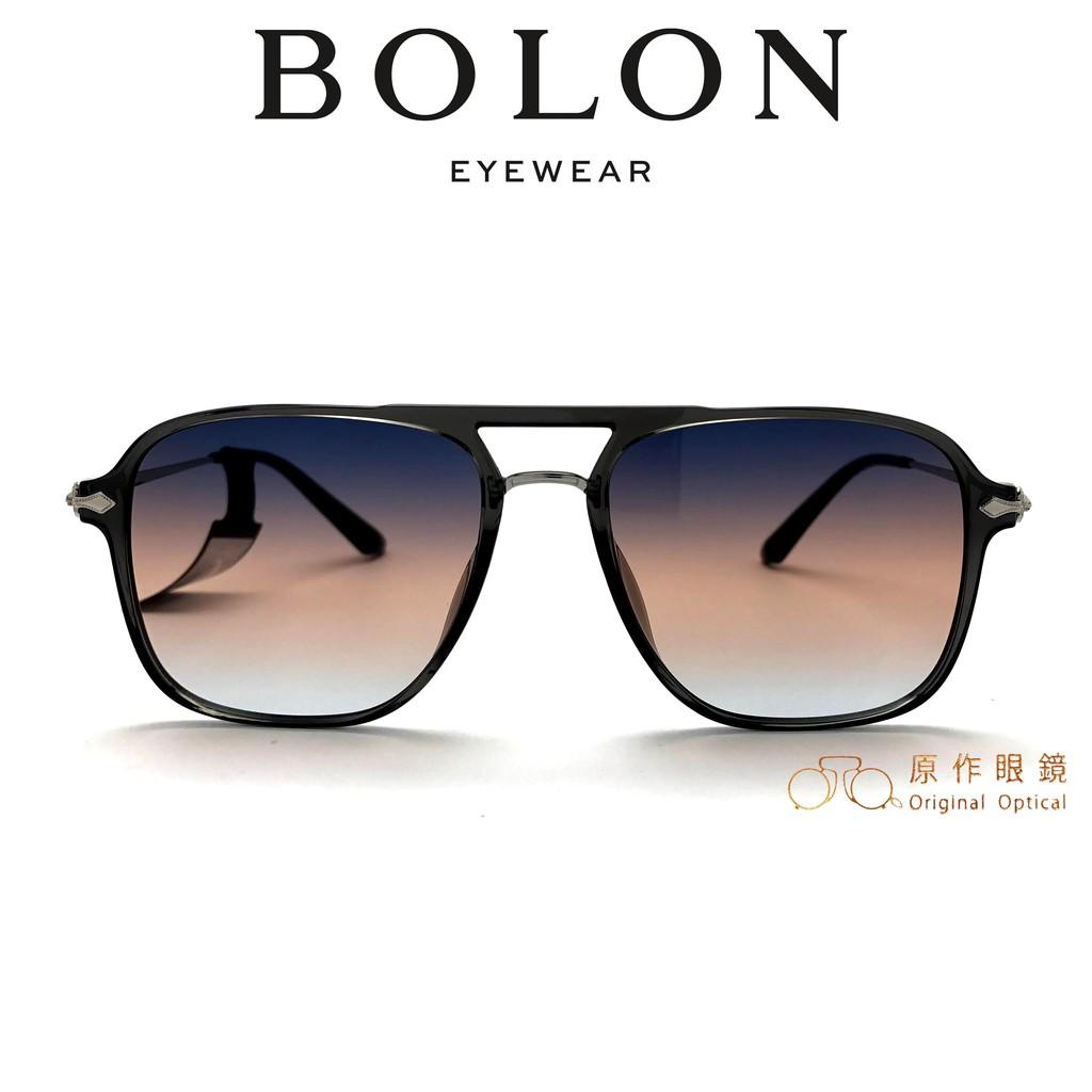 BOLON 太陽眼鏡 BL5037 A12 (透灰/銀) 灰茶藍漸層鏡片 墨鏡【原作眼鏡】