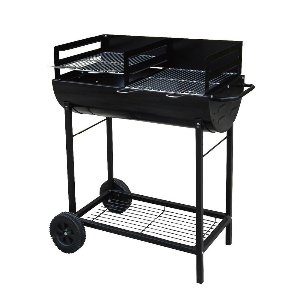 新不鏽鋼車架型雙格烤肉爐(正304不鏽鋼烤網)