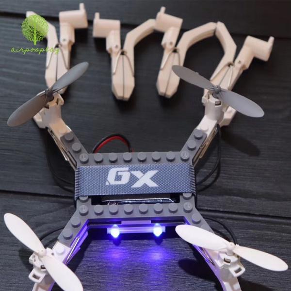 XG171遙控飛機夾子飛行器DIY積木組裝圖形編程定高航拍無人機充電