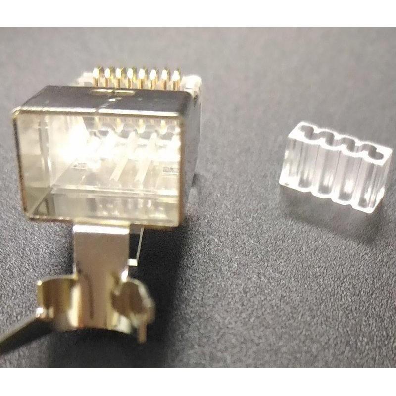 大孔徑 CAT.6A CAT6A 水晶頭 FTP超六類屏蔽水晶頭 二件三叉式 50u 不限量 適合粗線