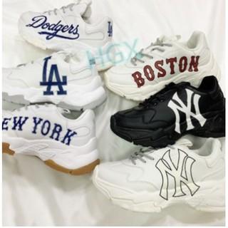 海外代購MLB老爹鞋增高6公分 NY LA Boston Dodgers 米白 洋基 休閒老爹鞋 厚底 運動鞋