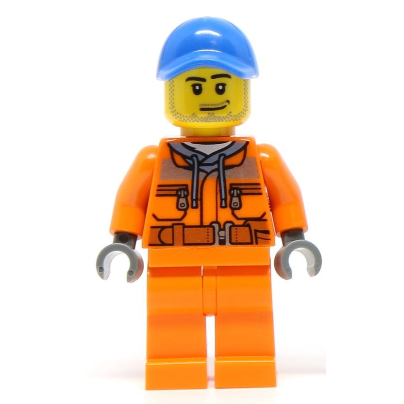 【小荳樂高】LEGO 城市系列 City 卡車司機 工人 (60132原裝人偶) cty0674
