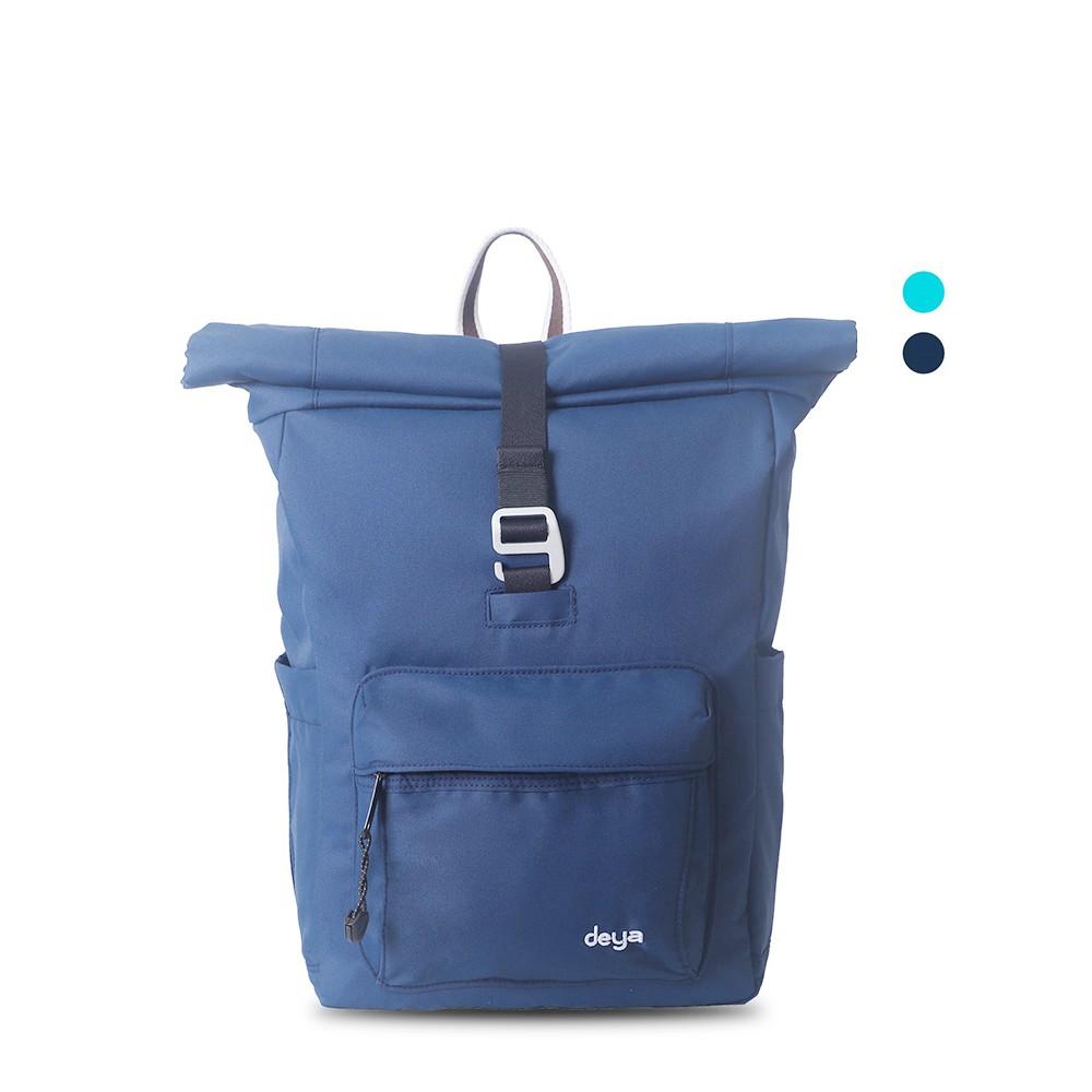 【deya】海洋回收捲式後背包(中)-深藍色