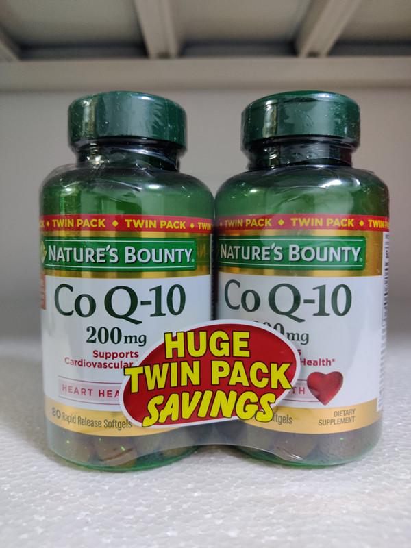 自然之寶 (雙瓶)美國Nature's Bounty自然之寶CoQ10輔酶Q10 200mg*80
