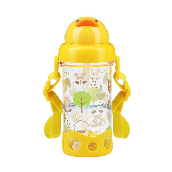 黃色小鴨 Piyo Piyo - Tritan 滑蓋吸管水壺 (黃色小鴨官方直營)