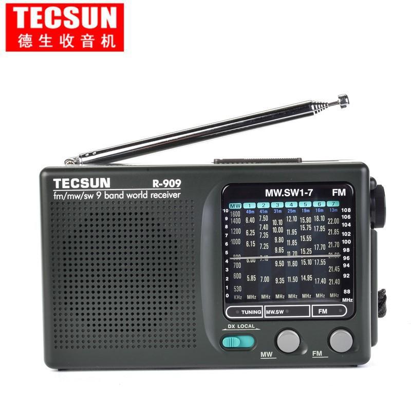 ☞源氏木語家居☜Tecsun/德生 R-909老年人收音機全波段便攜式fm調頻廣播半導體 老 10/5