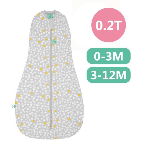 ergoPouch 二合一有機舒眠包巾0.2T(夏季款)(0-3M/3-12M)懶人包巾-雪寶灰【麗兒采家】