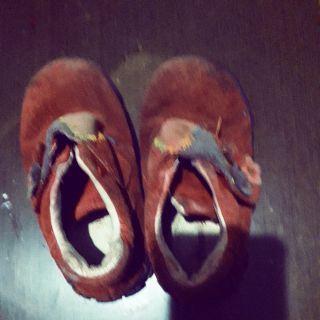 二手紅色麂皮16號女童鞋 基隆市