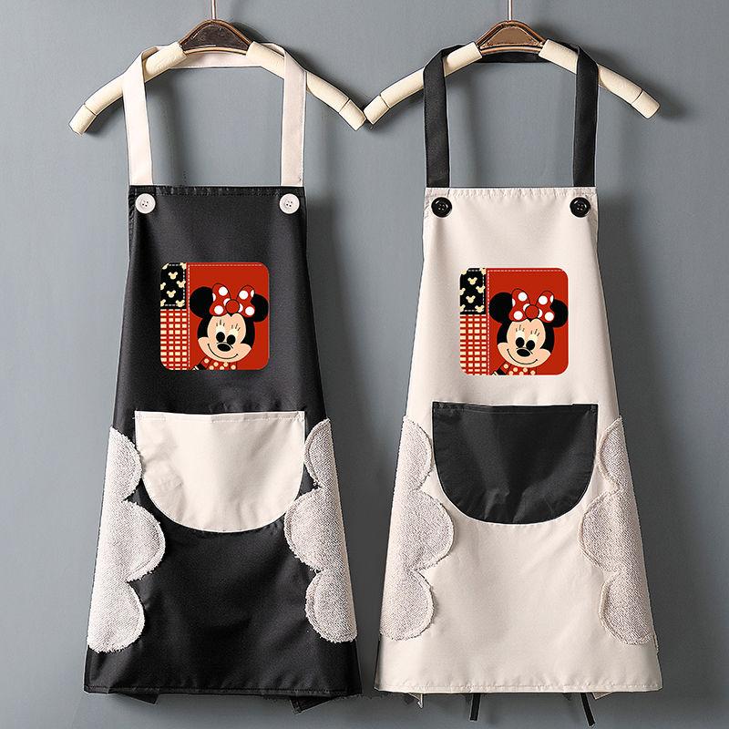 【店長推薦】廚房圍裙家用女時尚可愛防水防油可擦手工作做飯大人