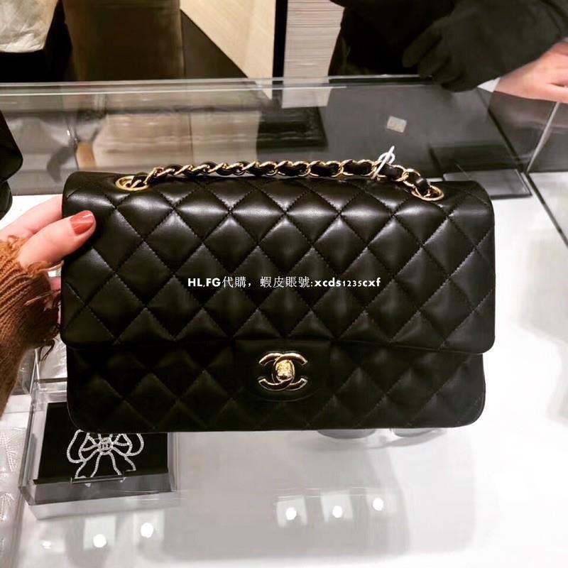 專櫃正品 Chanel Classic Flap 25cm,羊皮 金釦,實拍照