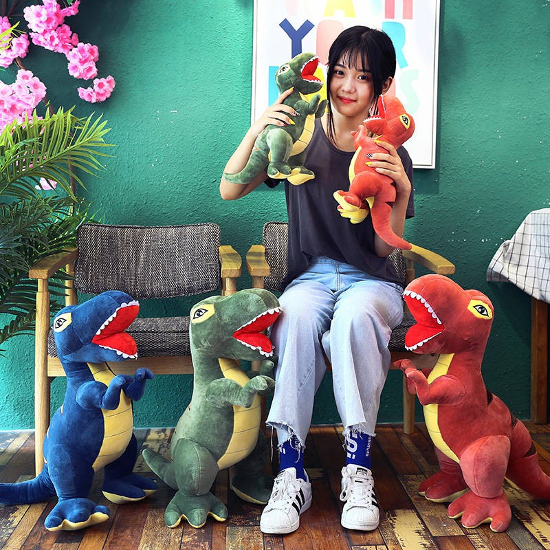 霸王龍公仔恐龍毛絨玩具布娃娃男孩生日禮物恐龍玩偶哆寶龍玩偶 小朋友都喜歡的恐龍玩偶~