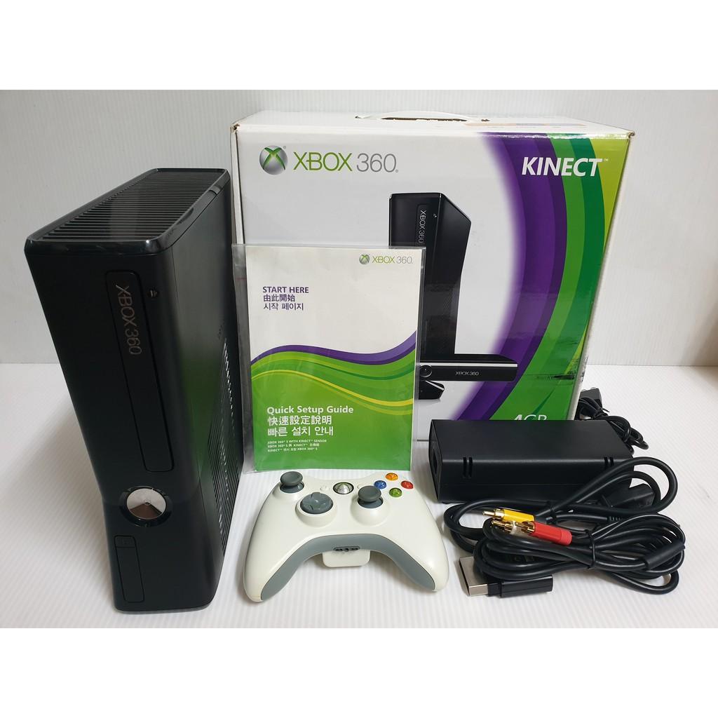 {哈帝電玩}~XBOX360 遊戲主機 Slim薄機 4G 無改機拆機維修紀錄 無KINECT 少用 功能正常良好~