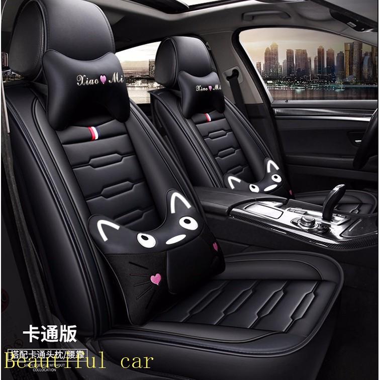 卡通新款小米坐垫座椅套座速霸陸Subaru Forester XV Outback Impreza Legacy WRX