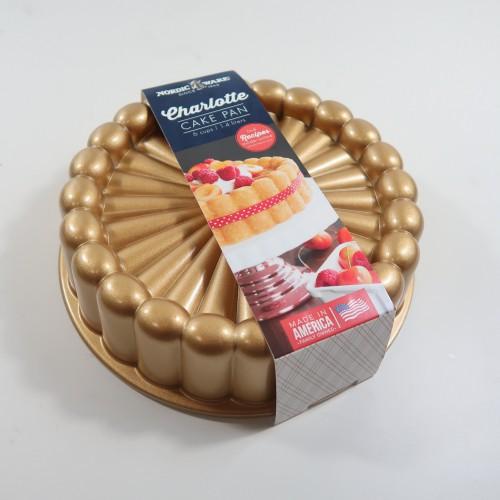 Nordic Ware 夏洛特蛋糕模 金色不沾烤盤 烤模 現貨