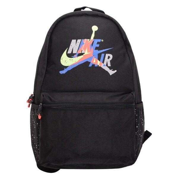 [新挑戰] NIKE JORDAN JUMPMAN 後背包 9A0381-026 黑 彩色 雙肩包