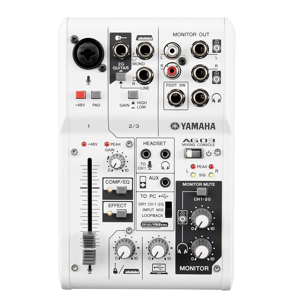 YAMAHA AG03 直播 錄音介面 混音機 台灣山葉公司貨